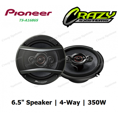 "PIONEER TS-A1686S 6.5"" 350W 4-WAY COAXIAL SPEAKERS"