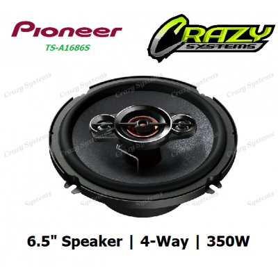 "PIONEER TS-A1686S 6.5"" 350W 4-WAY COAXIAL SPEAKERS"