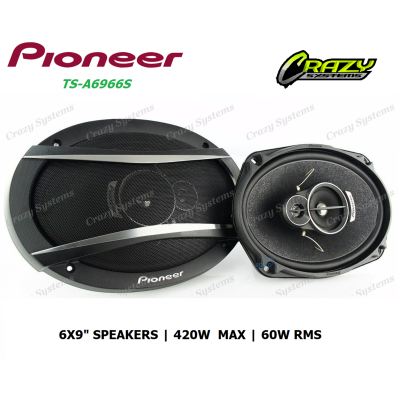 "Pioneer TS-A6966S | 6x9"" 3-Way 420W Speaker Pair"