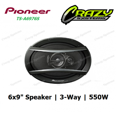 "PIONEER TS-A6976S 6""X 9"" 3 WAY 550 WATTS SPEAKER"