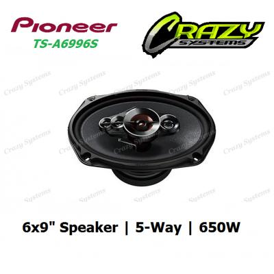 """PIONEER (TS-A6996S) 6""""X 9"""" - 5-Way 650W high power speaker"""