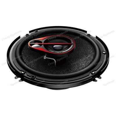 "Pioneer TS-R1650S 6.5"" 3-Way 250W Coaxial Car Speakers"