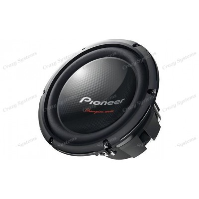 "Pioneer TS-W260D4 350W 10"" Champion Series Dual 4-Ohm Subwoofer"