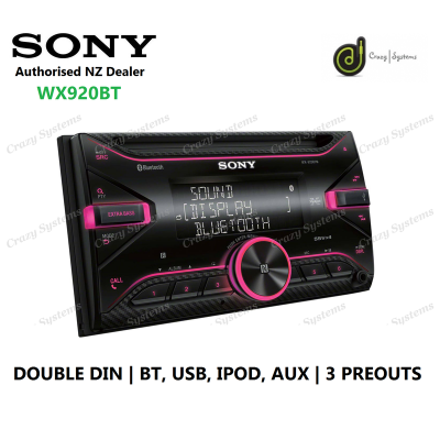 SONY WX-920BT | Bluetooth CD USB AUX 3x Pre-Outs Double Din Car Stereo