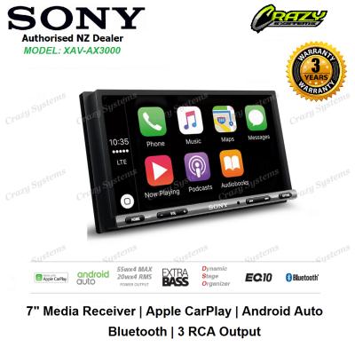 """Sony XAV-AX3000 7"""" Media Player with Apple CarPlay, Android Auto, Bluetooth, USB"""