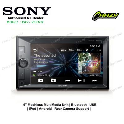 SONY XAV-V631BT Bluetooth Smartphone Support USB Dual AV Input 3x PreOuts