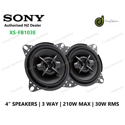 "Sony (XS-FB103E) 4"" 3-Way 210W Speaker Coaxial Pair"